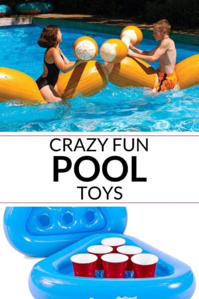 Collection of fun swimming pool toys