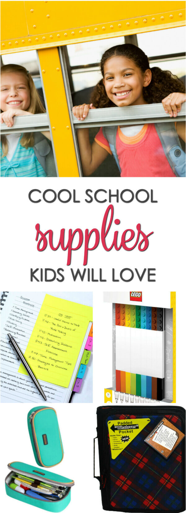 Cool back school supplies that your kids will love - these fun online school supplies make shopping easy