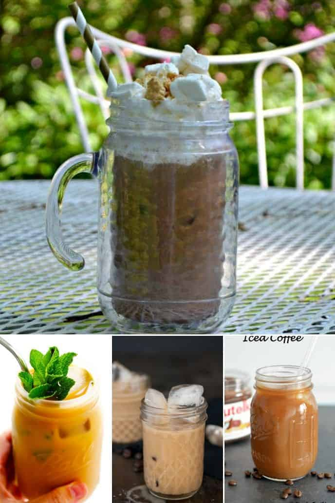 collection of iced coffee recipe