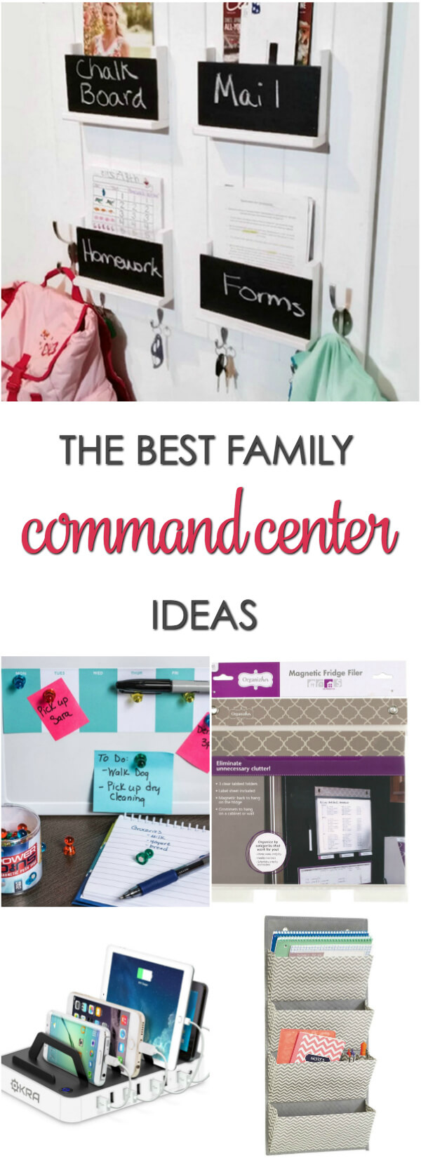 Get organized with these clever family command center ideas