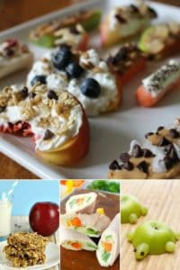 a great list of easy snacks to make that your kids will love