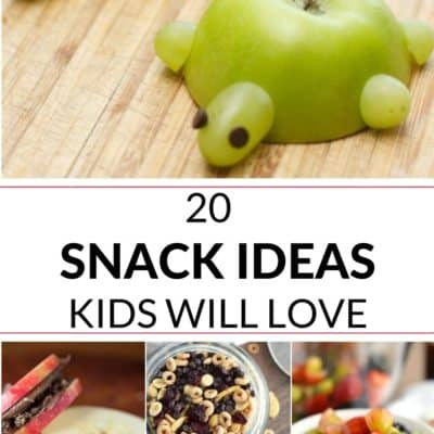 this is a collection of 20 easy snack recipes kids will love