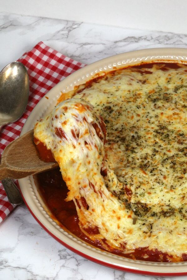 Easy Meatball Casserole - this 30 minute recipe has only a few ingredients and is always a crowd pleaser