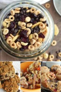 a list of back to school easy snack recipes