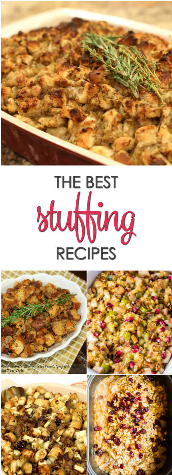 Looking for the perfect stuffing recipe?  Here are some of the best easy turkey stuffing recipes from across the web.  They are some of the best Thanksgiving recipes ever.