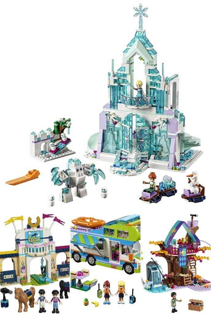 Collection of legos for girls