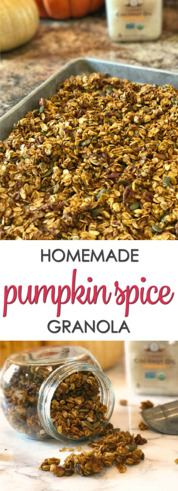 Pumpkin Spice Granola - this easy homemade pumpkin pie granola recipe is perfect for fall