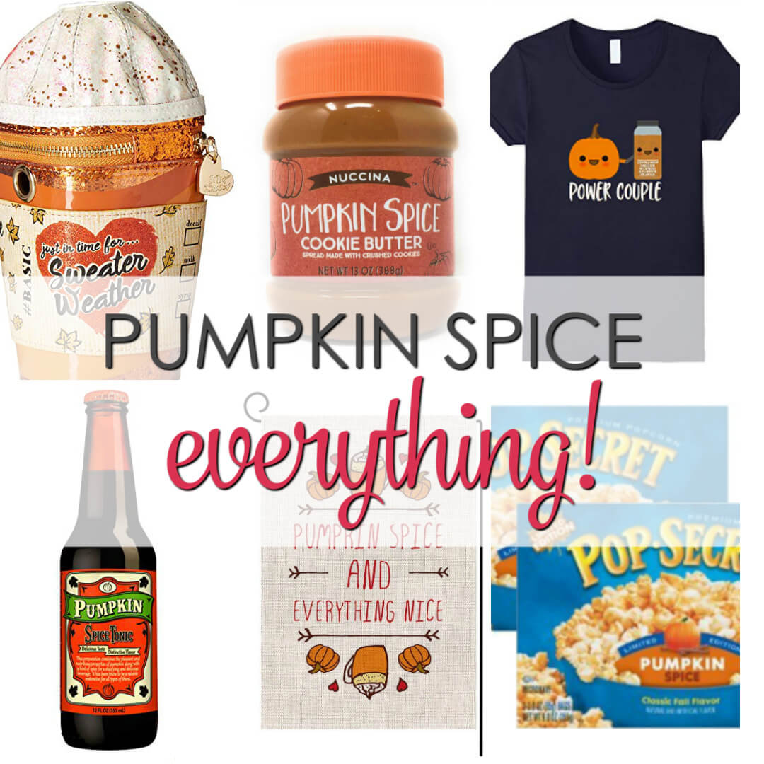 A collection of Pumpkin Spice Everything