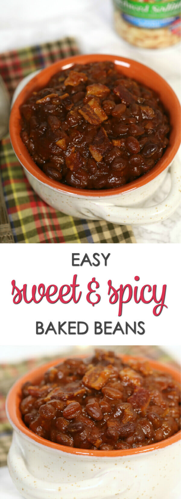 Sweet and Spicy Baked Beans - this easy recipe is perfect for cookouts or game day