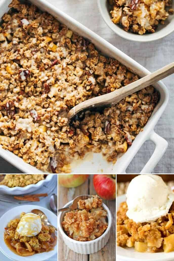 A collection of easy apple crisp recipes
