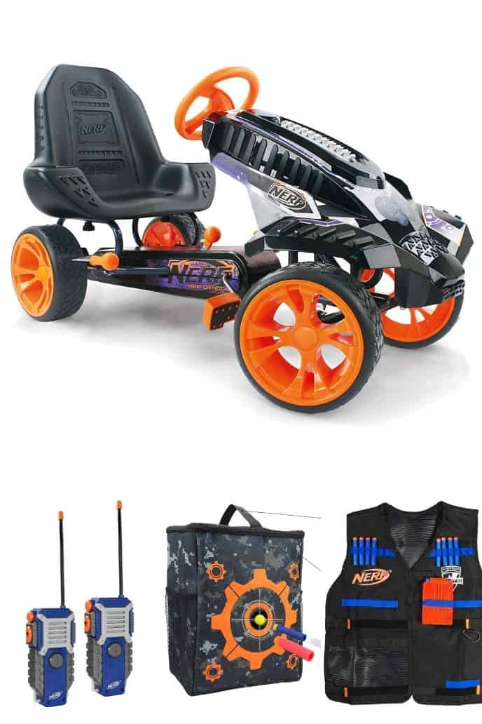 collection of cool nerf guns and toys