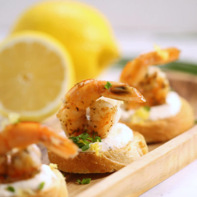 Creamy Shrimp Bruschetta
