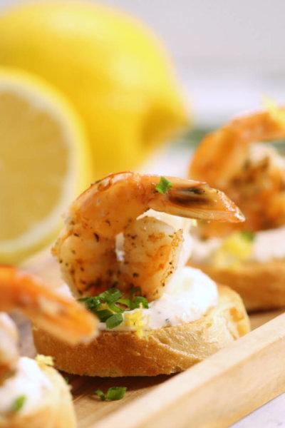 Creamy Shrimp Bruschetta
