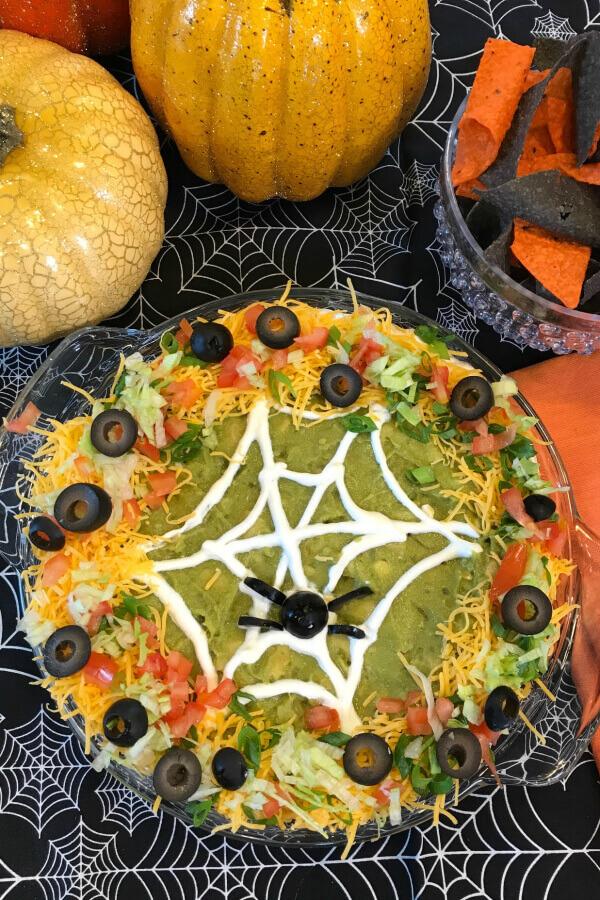 Halloween Taco Dip - Halloween Party Food Ideas
