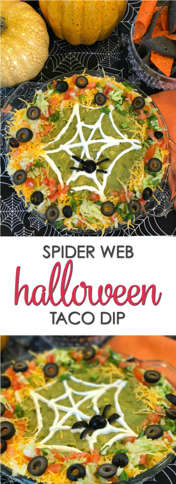 Halloween Taco Dip - this easy taco dip recipe takes minutes to make and is a great Halloween recipe for parties