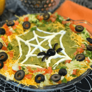 Halloween Taco Dip - this easy taco dip recipe is ready in minutes and looks so festive
