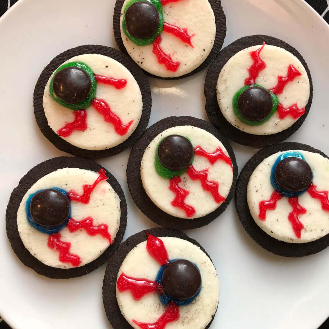 These Easy Cookie Eyeballs are one of my favorite easy oreo recipes and one of the simplest Halloween recipes for parties