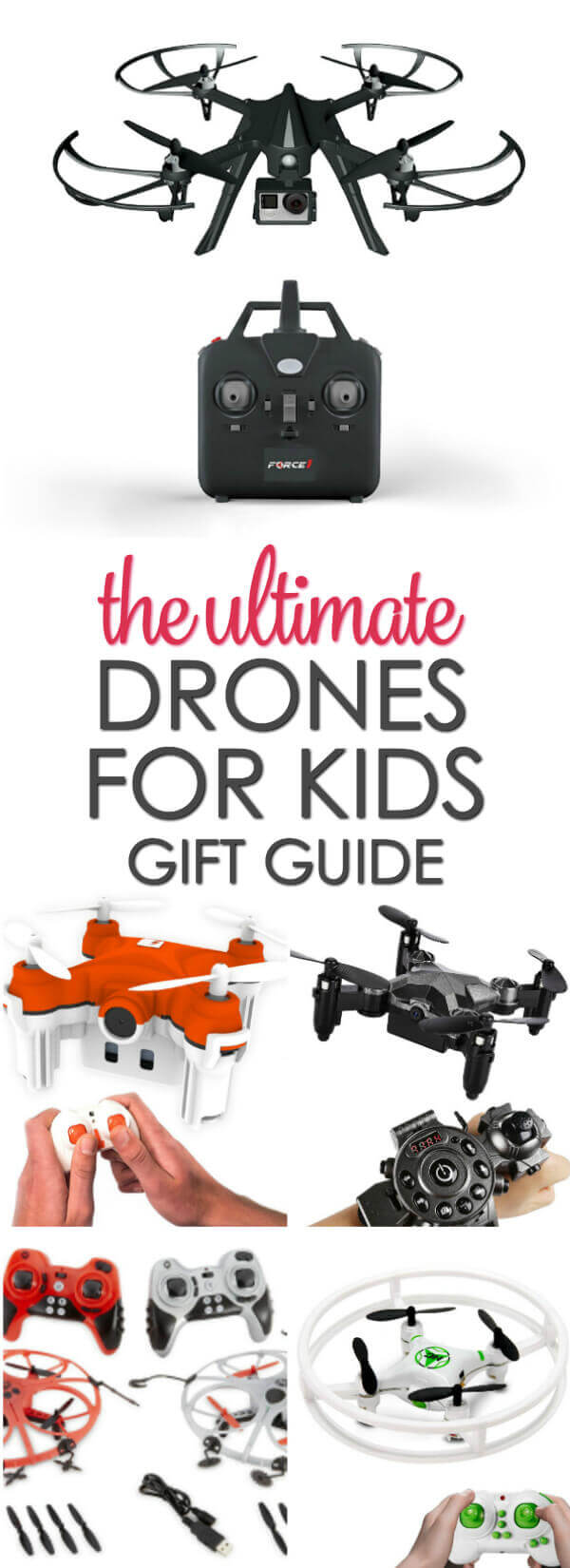 Drones are all the rage for kids of all ages. They are one of the top Christmas gifts kids love. This guide has gift ideas for drone lovers of all ages.
