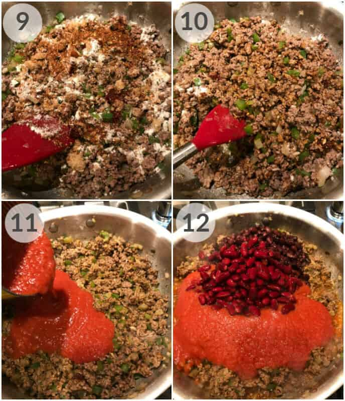 step by step photos for how to make award winning chili recipe