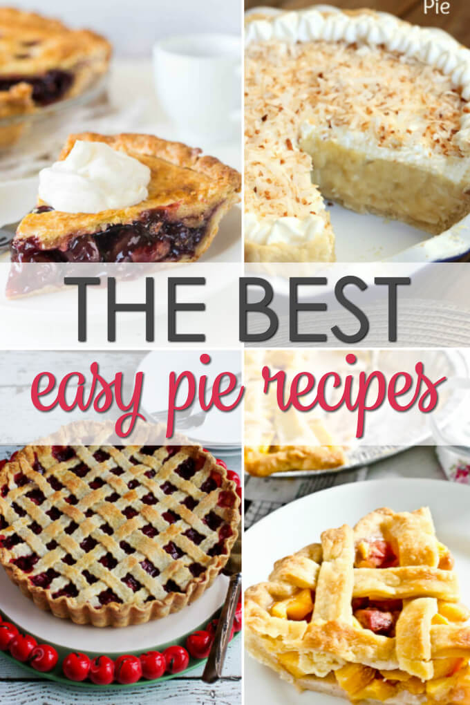 25 Best Homemade Pie Recipes with everything from fruit pies, cream pies, no bake pies and more!
