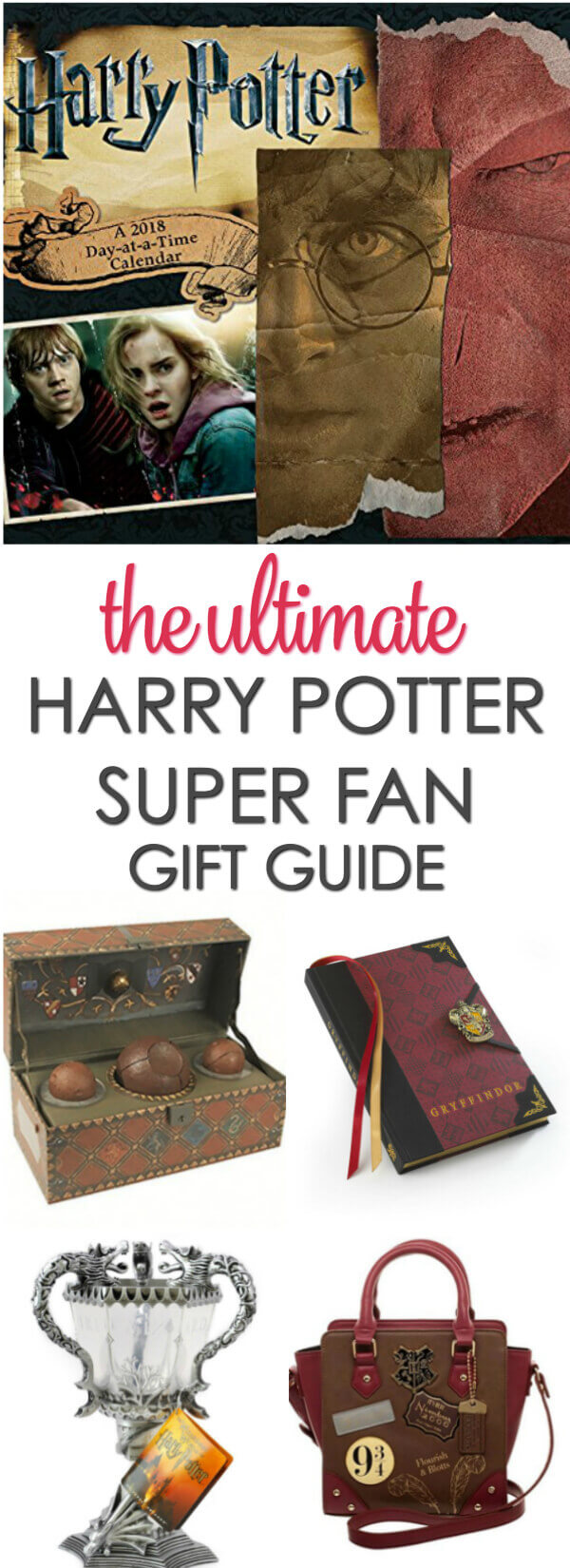 If you know someone that is a Harry Potter super fan, check out this list of cool Harry Potter gifts!