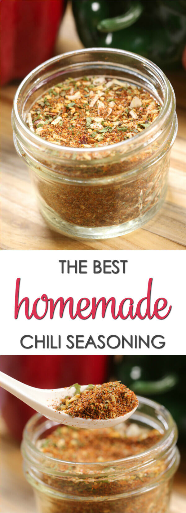 This homemade Chili Seasoning Mix recipe has just the right amount of heat and sweetness.