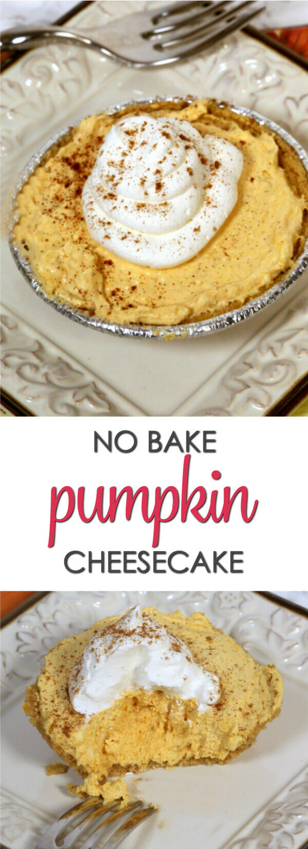 This easy no bake Pumpkin Cheesecake recipe takes minutes to make and is always a crowd pleaser. 