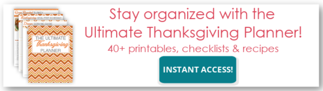 Thanksgiving planner ad