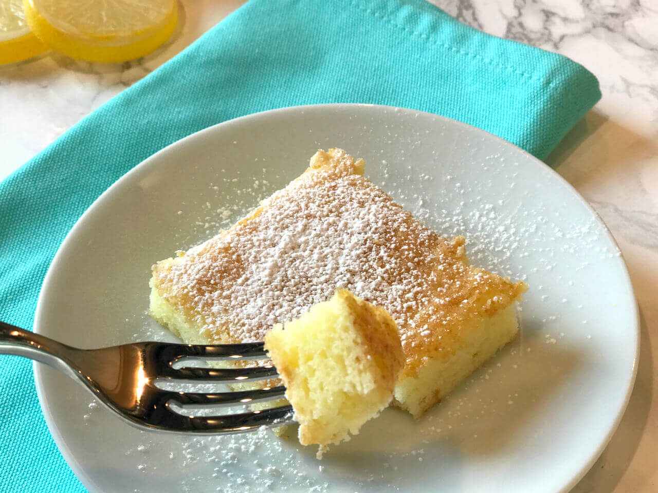 angel food lemon bars