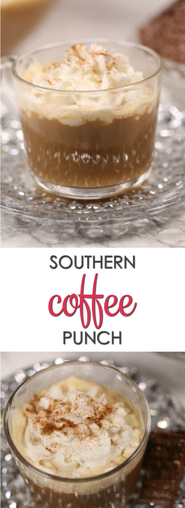 This Coffee Punch recipe is one of my favorite southern inspired recipes. It's full of coffee flavor and served cold with ice cream.  It's always a crowd pleaser.