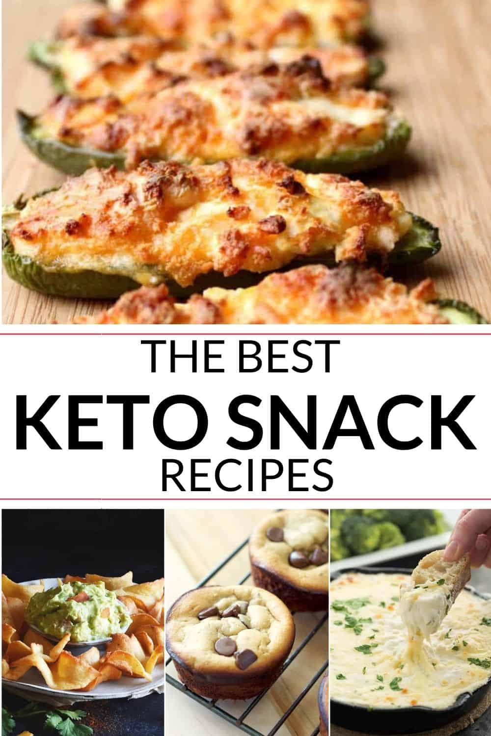 collection of keto snacks recipes