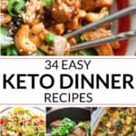 Collection of keto recipes for dinner