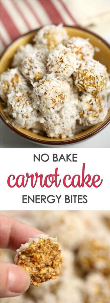 No Bake Carrot Cake Energy Bites