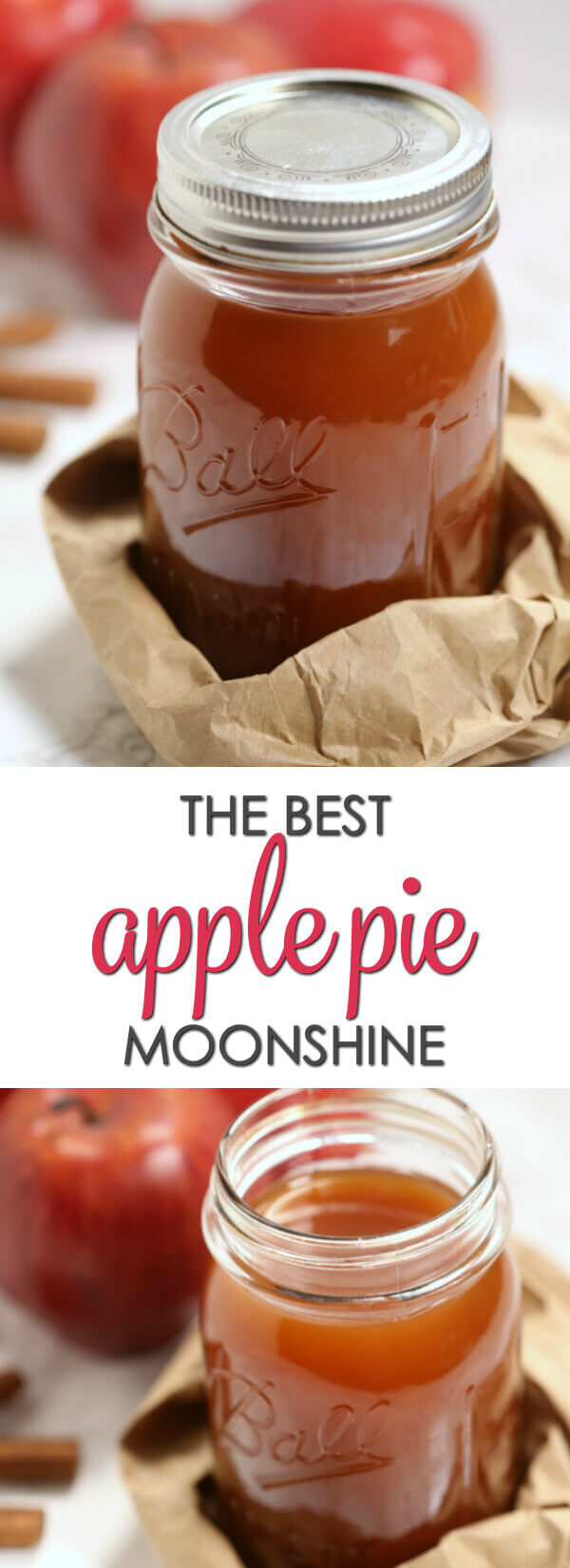 This is the bestApple Pie Moonshine recipe. Made with apple cider and Everclear grain alcohol, it packs a punch but still it's smooth andbursting with apple cinnamon flavor.#itisakeeper #recipe #moonshine
