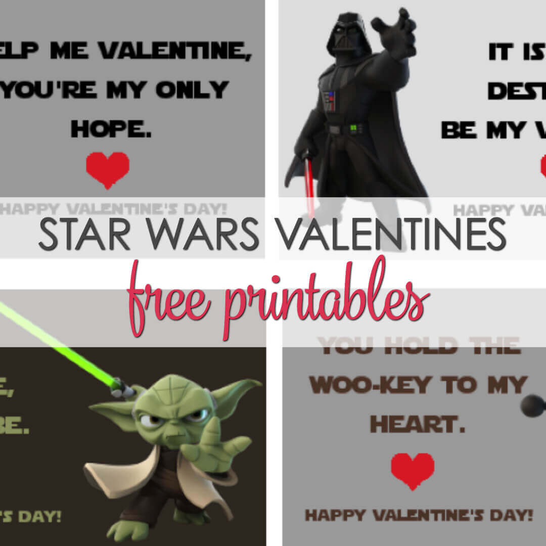 image relating to Printable Star Wars Images known as Star Wars Valentines Printables - 4 cost-free options It Is a