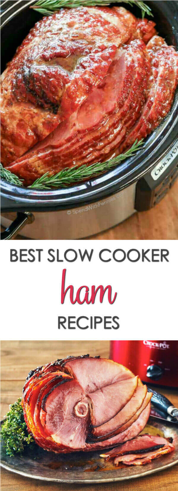 Take a hands off approach to your holiday dinner with these 20 Slow Cooker Ham Recipes.  You'll find traditional recipes like easy slow cooker spiral ham to recipes that feature ham in other ways.  These will be some of your favorite Easter recipes. #itisakeeper #recipes #slowcooker #crockpot #easter