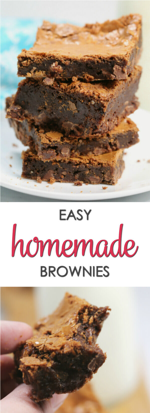 My grandmother's Homemade Brownies scratch recipe is one of my most treasured recipes.  Her brownies were soft and chewy and oozing with chocolate flavor.