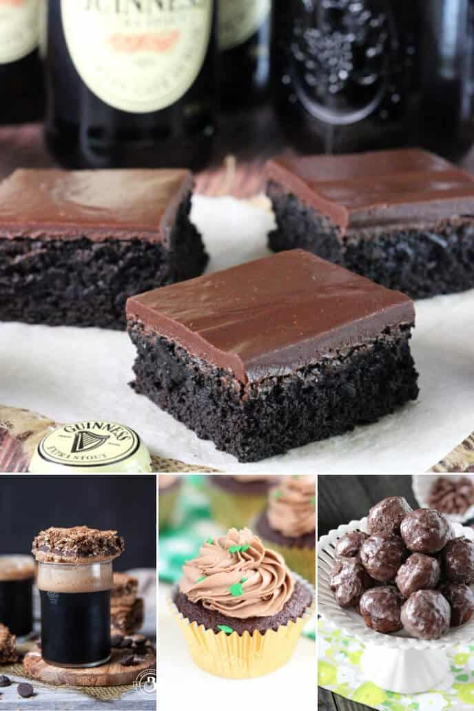 A collection of chocolate Irish recipes with Guinness Stout