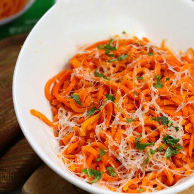 Parmesan Carrot Spirals