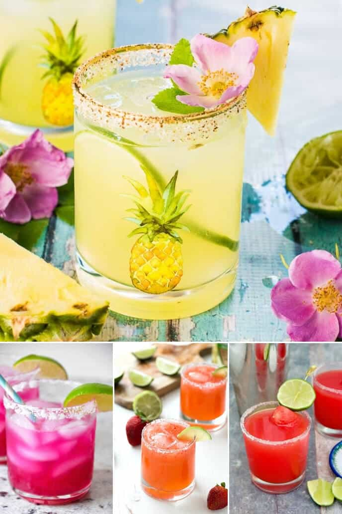 Collection of fruit margarita recipe including strawberry margarita recipe