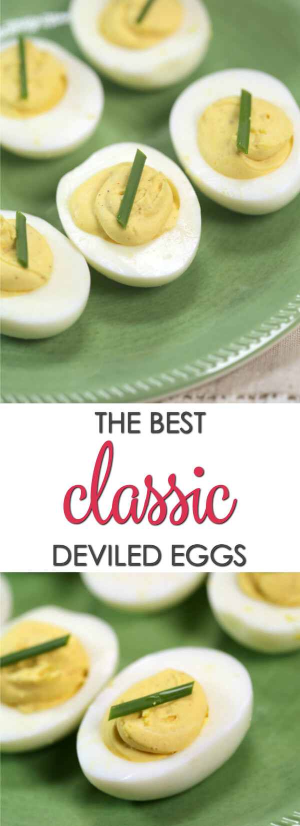 This best deviled eggs recipe is a classic recipe that every cook needs in their recipe box. It's a classic staple that is perfect for parties, luncheons or even an easy snack. I have tweaked my recipe to the point where it is absolutely perfect! Just the right balance of creamy, zesty and tangy. This easy deviled eggs recipe is a must try!  Get more easy deviled egg recipes at www.itisakeeper.com  #itisakeeper #recipe #easter #eggs #easyrecipe #appetizer #partyfood