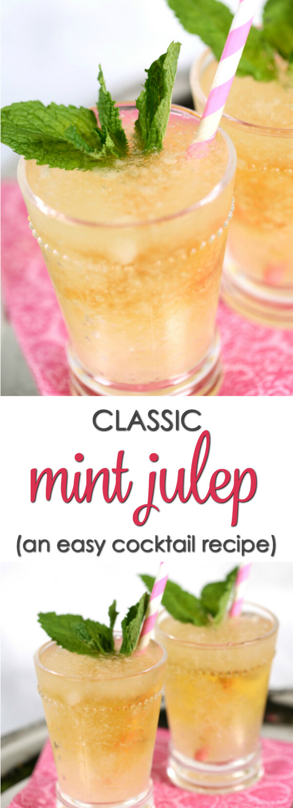 This Kentucky Derby is one of the top 10 bourbon cocktails.  It's incredibly easy to make (I'll even show you a short cut) and is the perfect cocktail for watching the Kentucky Derby.  You can easily make Mint Julep with only a few simple ingredients and it only take a few minutes.  #KentuckyDerby #Cocktail #mint #bourbon #easycocktailrecipe #ItIsaKeeper #recipe