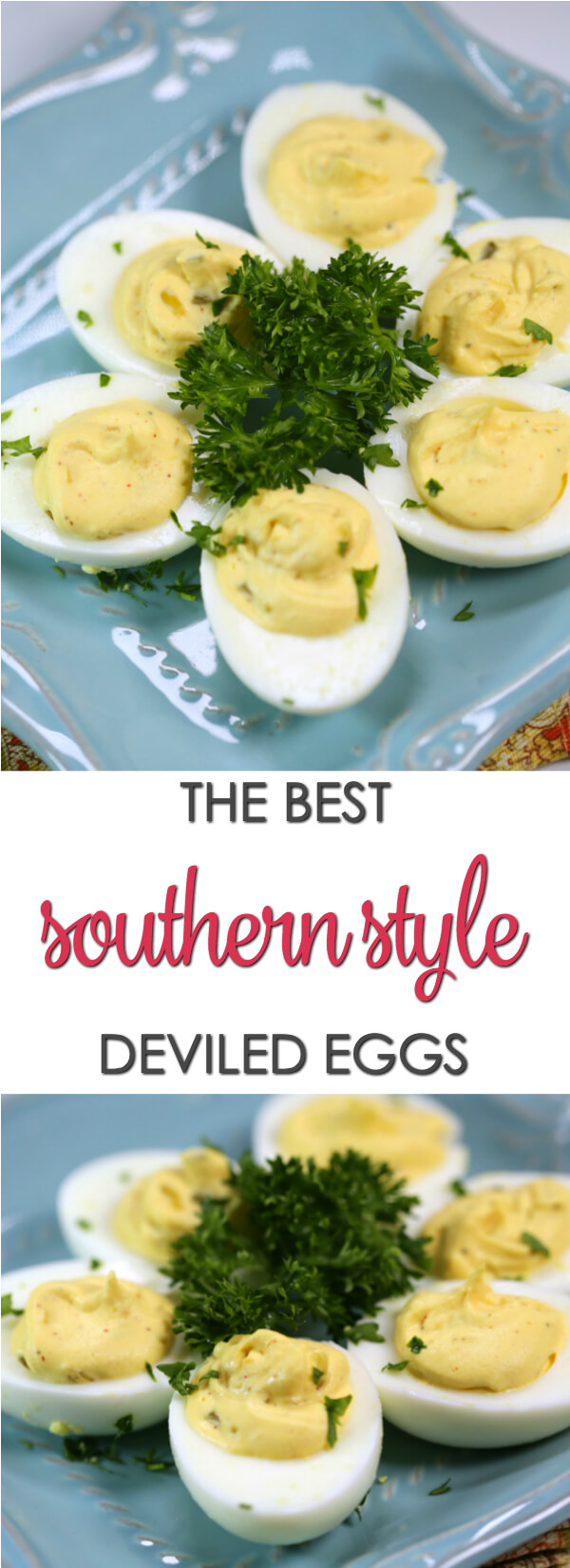 This southern-style deviled eggs recipe is very similar to the Paula Deen deviled egg recipe. It's a delicious twist on my best classic deviled eggs recipe.  This easy recipe has the perfect balance of sweetness from the relish, tanginess and creaminess.  Find more easy deviled eggs recipes on www.itisakeeper.com  #Itisakeeper #easter #eggs #appetizer #easyrecipe #partyfood