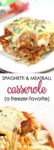 spaghetti meatball casserole