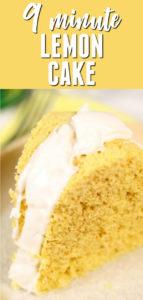 9 MInute Lemon Cake