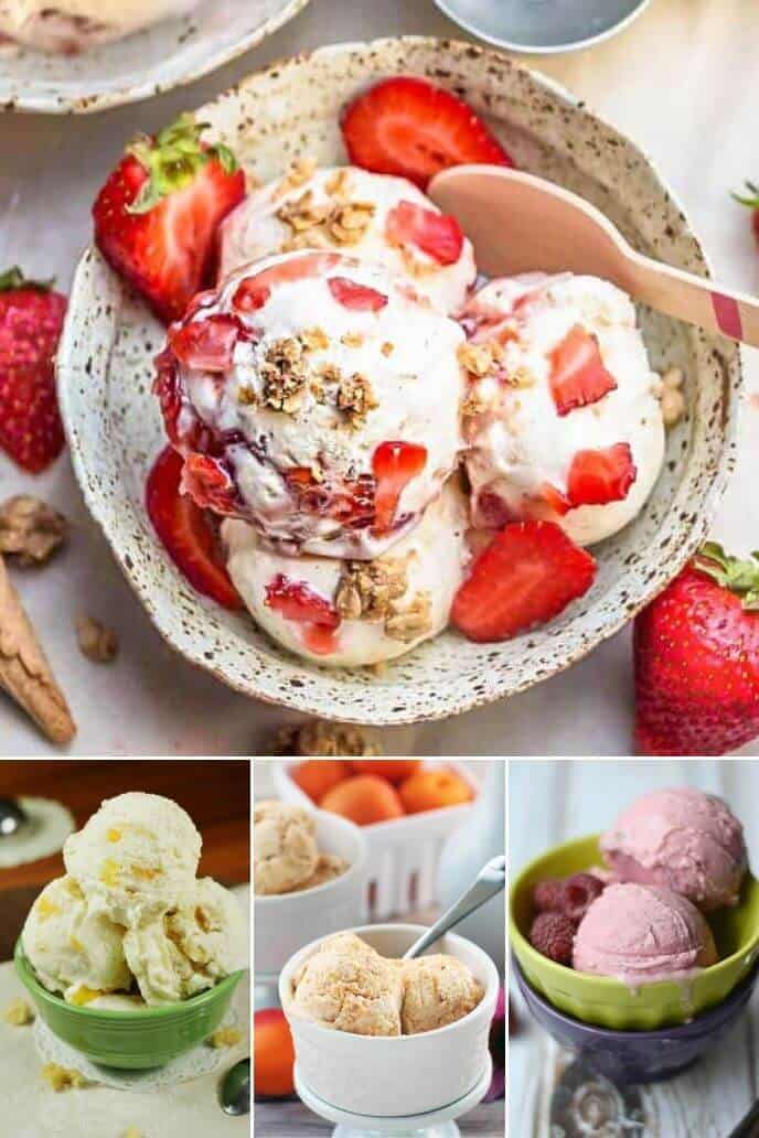 Collection of homemade ice cream recipes