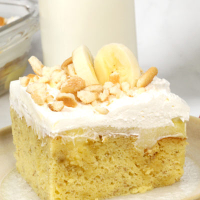 Banana Cream Poke Cake