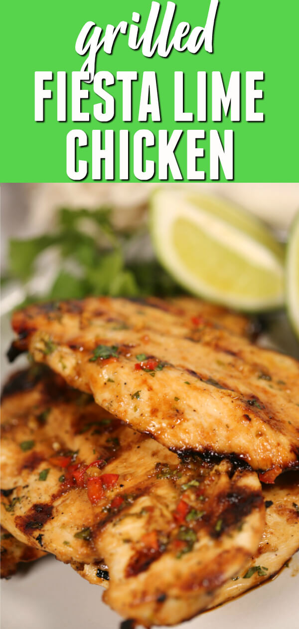 Fiesta Lime Chicken is tender and juicy with perfect Tex-Mex flair.  This marinated grilled chicken recipe is bursting with flavor!  #itisakeeper #recipe #recipes #easyrecipe #quickrecipe #dinner #chicken #grilled #marinade #TexMex #30minuterecipe #BBQ #Lime #Cilantro