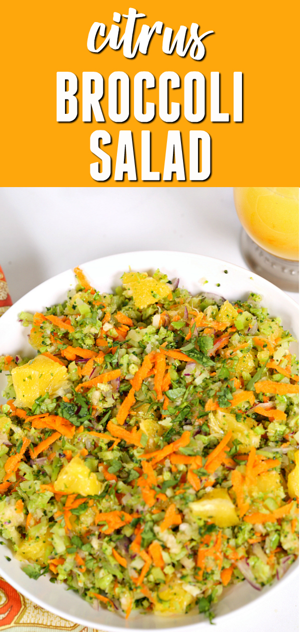This is one of my favorite broccoli salad recipes.  It's bursting with fresh citrus flavor and packed full of crunchy broccoli goodness. #itisakeeper #recipe #recipes #easyrecipe #quickrecipe #dinner #salad #broccoli #citrus #easysalad #summersalad #farmersmarket