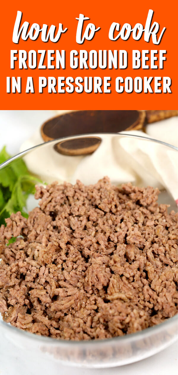 Learn how to cook frozen ground beef in the Instant Pot pressure cooker in about 30 minutes.  You can use the cooked meat in all of your best ground beef recipes.  #itisakeeper #beef #instantpot #PressureCooker #easyrecipe #dinner #easydinner #30minuterecipe #groundbeef #recipe #recipes #quickrecipe #dinner